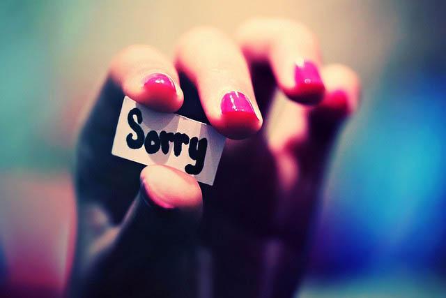 Μη δέχεσαι την ύπουλη συγγνώμη
