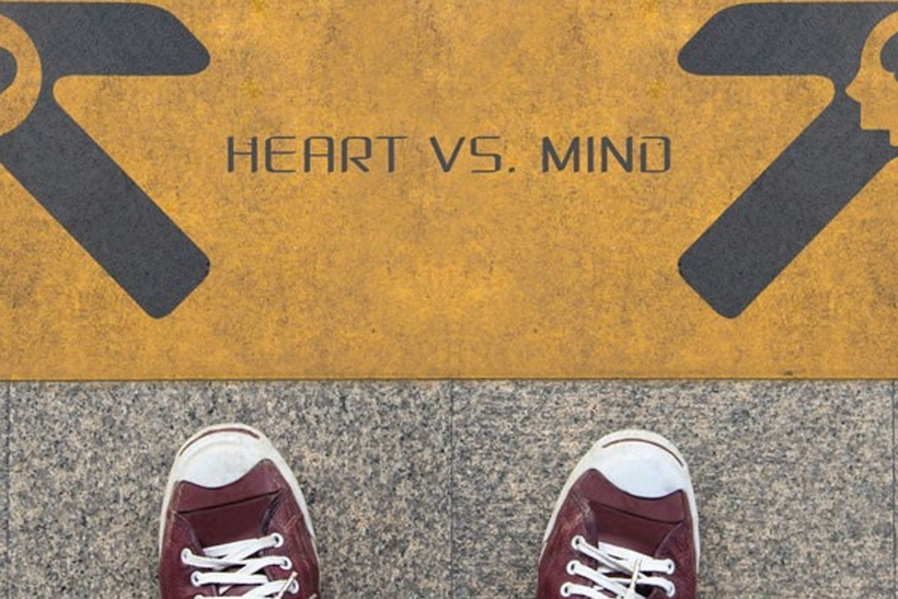 Καρδιά-μυαλό σημειώσατε Χ