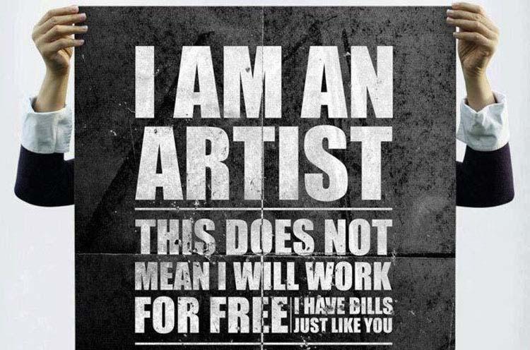 Οι καλλιτέχνες δεν είναι εθελοντές