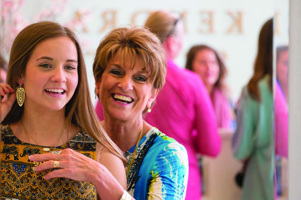 Mom & daughter shopping at Kendra Scott at The Shops at Legacy
