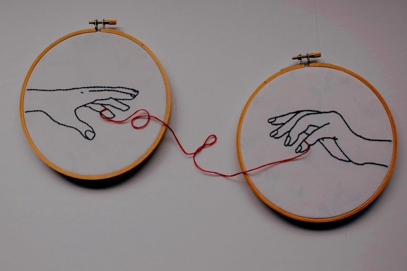 The most popular red string of fate ring for Embroidery Hoop Art Embroidered Hand Embroidery Modern - Matvuk.Com - Men's and Women's Wedding Bands Ideas