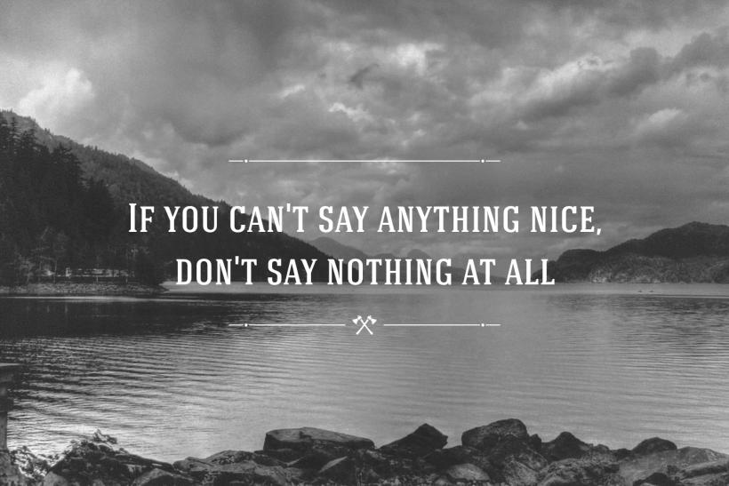 Κρίνεσαι απ' τον τρόπο που μιλάς για τους άλλους