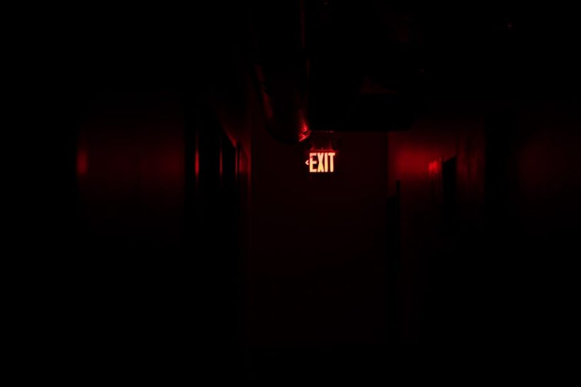 night-red-sign-exit-74466