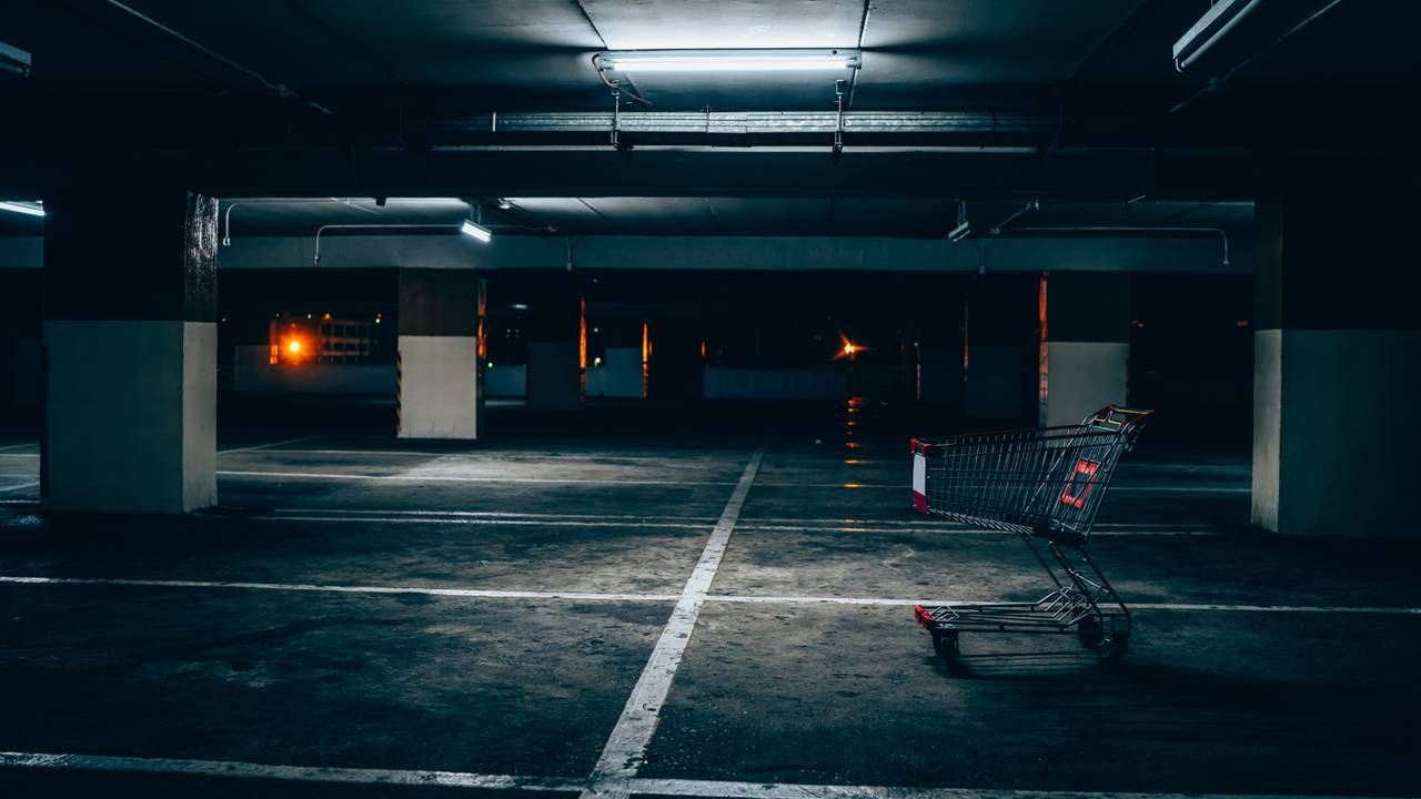 empty-scary-city-car-park-garage-at-night